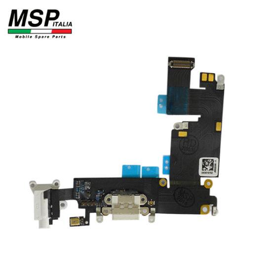 Flat con Connettore Ricarica + Jack Audio e Microfono (bianco) iPhone 6p