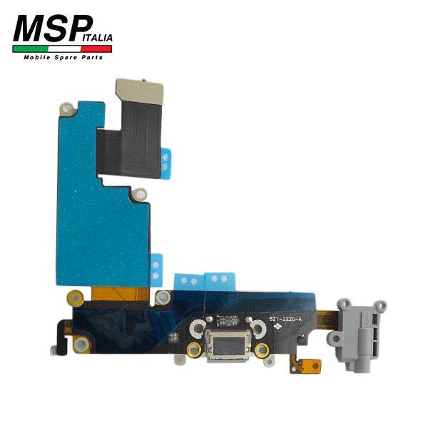 Flat con Connettore Ricarica + Jack Audio e Microfono (nero) Apple iPhone 6p