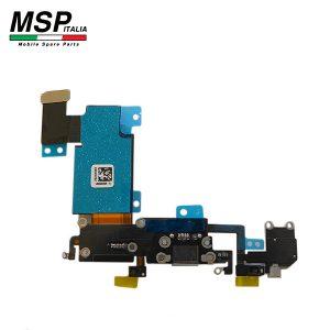 Flat con Connettore Ricarica + Jack Audio e Microfono (nero) Apple iPhone 6sp