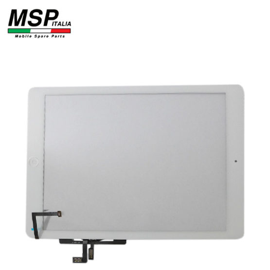 Vetro Touch Screen con Tasto Home Best Quality Apple iPad Air (bianco / white)
