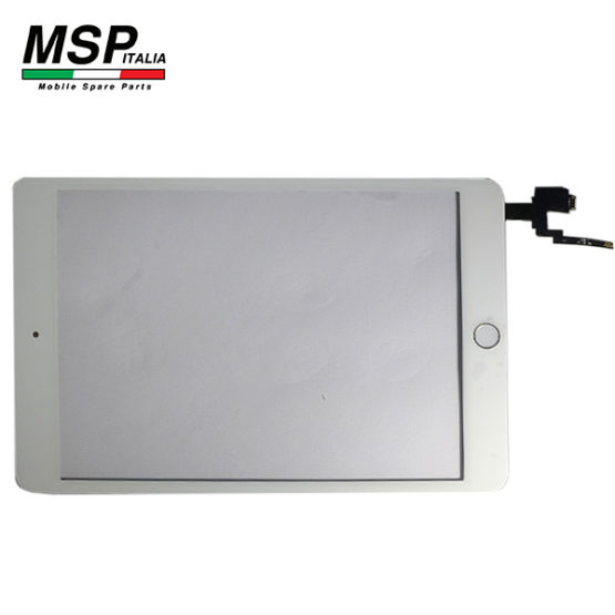 Vetro Touch Screen con Tasto Home Best Quality Apple iPad Mini 3 (bianco / white)